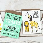 Vegan Themed Cards and Totes from Two Trick Pony