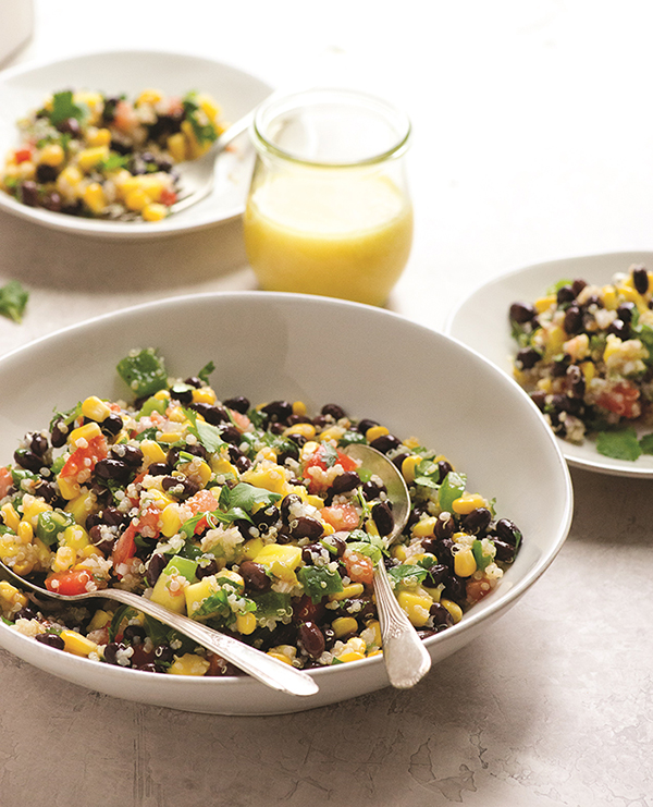 Vegan Ensalada Azteca from The China Study Cookbook by LeAnne Campbell (oil-free, gluten-free)