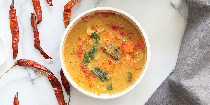 Vegan Richa's Red Curry Soup with Lentils feature