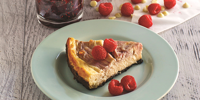 White Chocolate Raspberry Cheesecake from Vegan Junk Food by Lane Gold