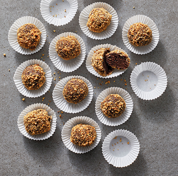 Chocolate–Peanut Butter Candy Bites from The Vegan 8 by Brandy Doming