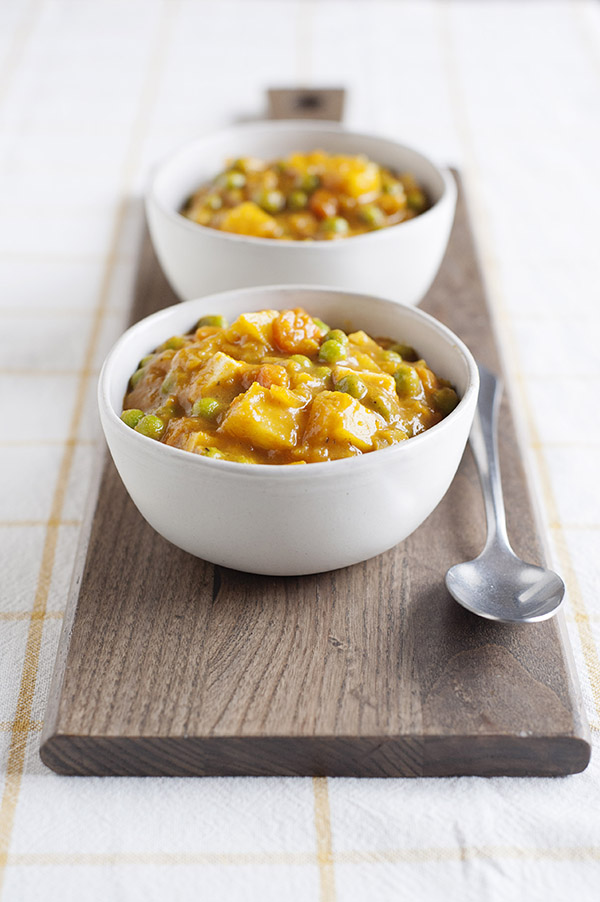 Japanese Vegetable Curry from One-Dish Vegan by Robin Robertson is the perfect quick and easy dinner. It's vegan and gluten-free. #vegan #vegandinner #glutenfree #vegancurry