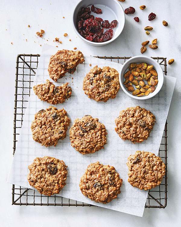 Pumpkin Spice, Cranberry, and Pistachio Morning Cookies from The Vegan 8 by Brandi Doming (vegan and gluten-free) >> #vegan #glutenfree #pumpkinspice #cookies