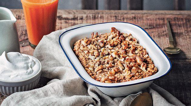 Sweet Potato Pie Baked Porridge from Naturally Sweet Vegan Treats