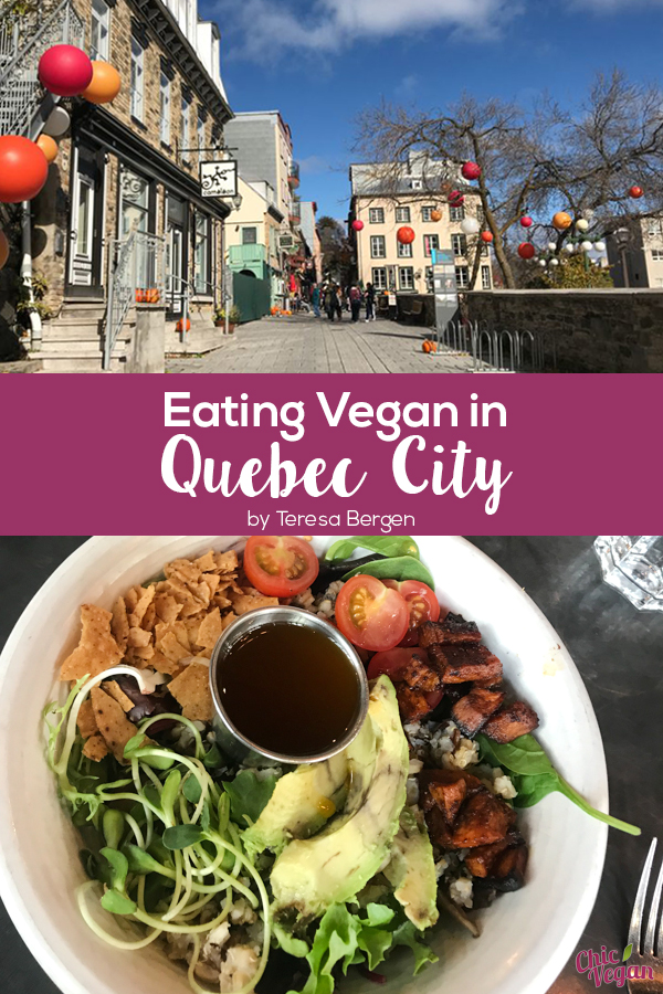 About 150 miles northeast of Montreal, Quebec City feels a lot like Europe. Unlike Montreal, Quebec City is far from the cutting edge of veg, but there are a few places to get a good vegan meal.