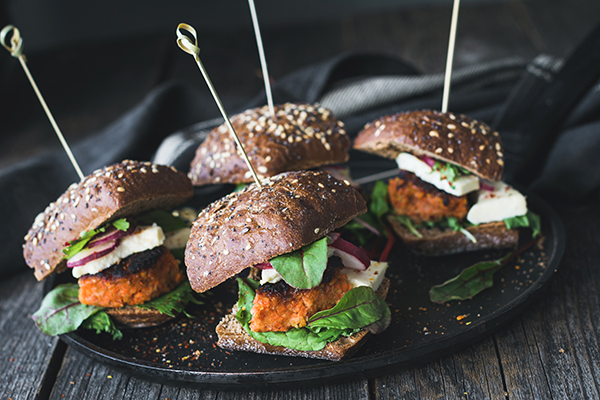 The Incredible Veggie Burger Sliders from No Meat Athlete