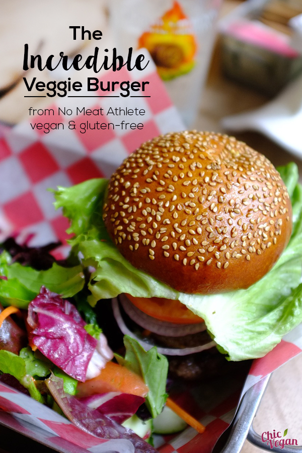 No one will miss the meat when you serve The Incredible Veggie Burger fromNo Meat Athlete by Matt Frazier. It's vegan and gluten-free.