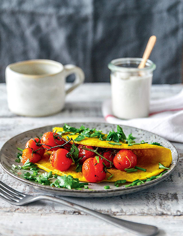 Tofu Omelet from The Ultimate Vegan Breakfast Book by Nadine Horn and Jörg Mayer!