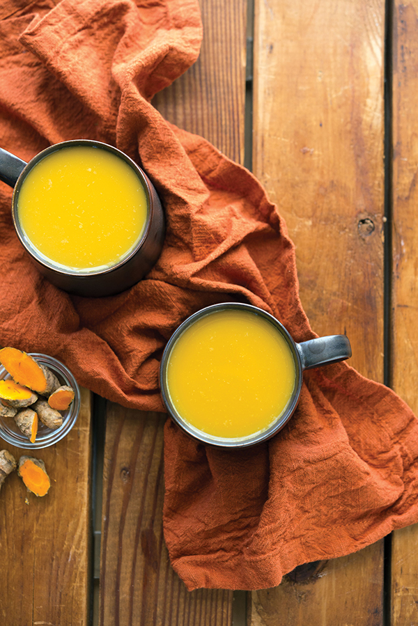 Turmeric Tea from What the Health by Kip Andersen and Keegan Kuhn with Eunice Wong