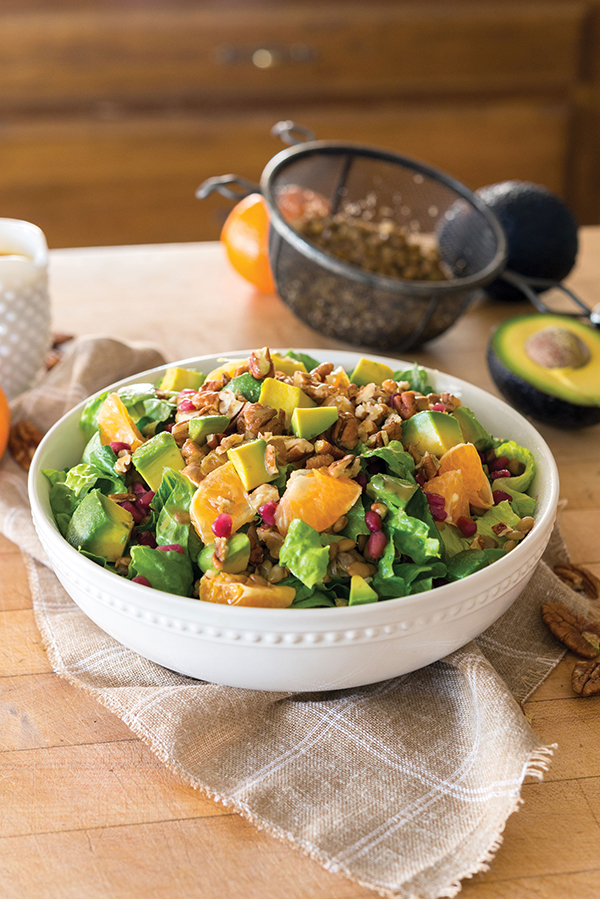 Winter Lentil and Pomegranate Salad from What the Health by Kip Andersen and Keegan Kuhn with Eunice Wong