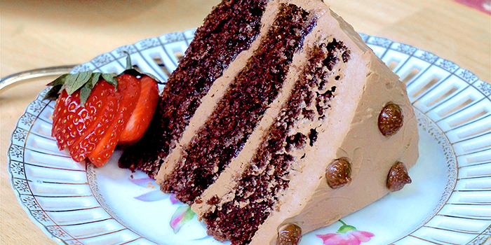 Jazzy Vegetarian's Divine Chocolate Mousse Cake