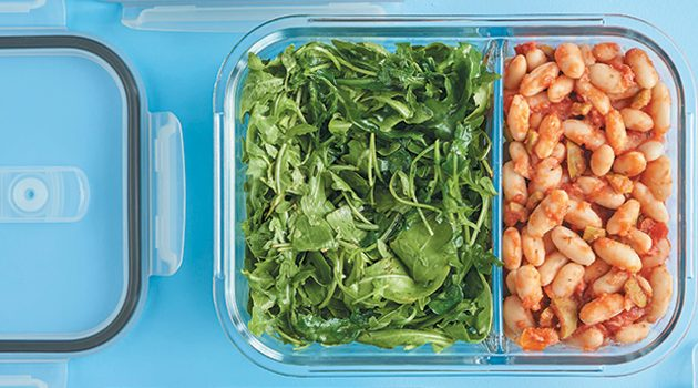 Mediterranean Beans with Greens from Vegan Meal Prep