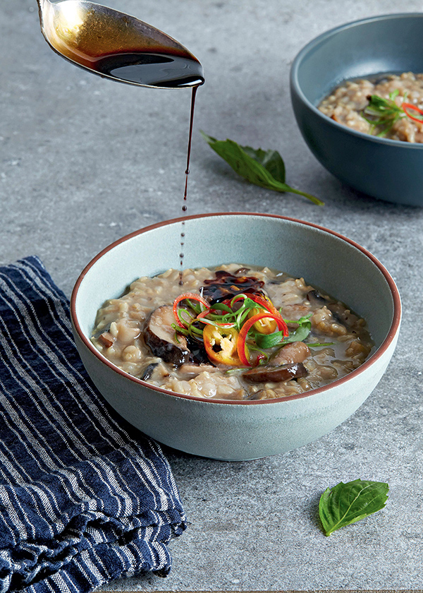 Shiitake Congee from Chickpea Cacciatore from The Vegan Slow Cooker