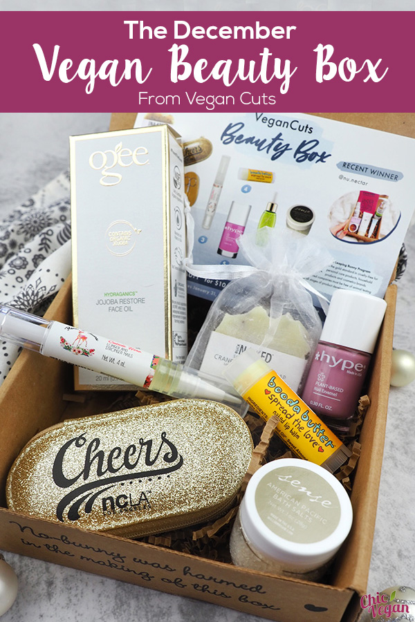 The December Vegan Cuts Vegan Beauty Box is Leaping Bunny approved and full of beauty and skin care products to help you ring in the new year the cruelty-free way!