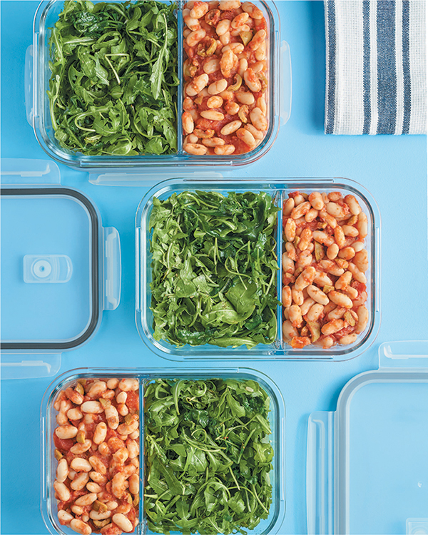Mediterranean Beans with Greens from Vegan Meal Prep by JL Fields