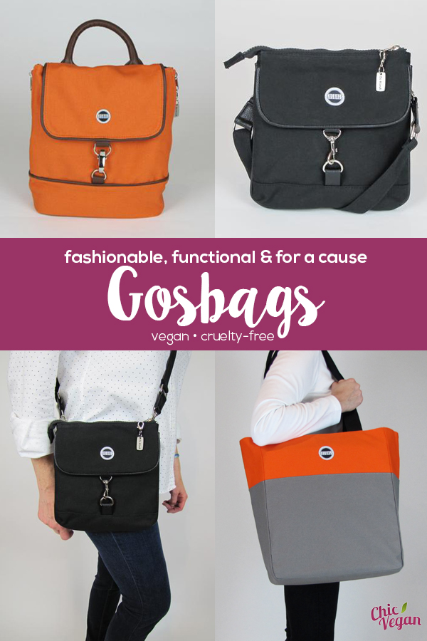 GOSBAGS - fashionable, functional and for a cause (vegan and cruelty-free)