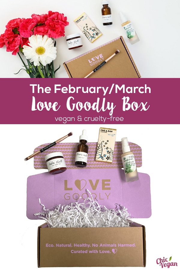 The Love Goodly box for February/March is filled with plenty of things to make sure you pamper yourself just as much as others.