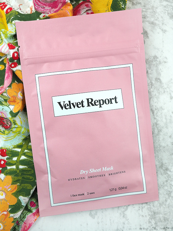 Velvet Report Dry Sheet Mask