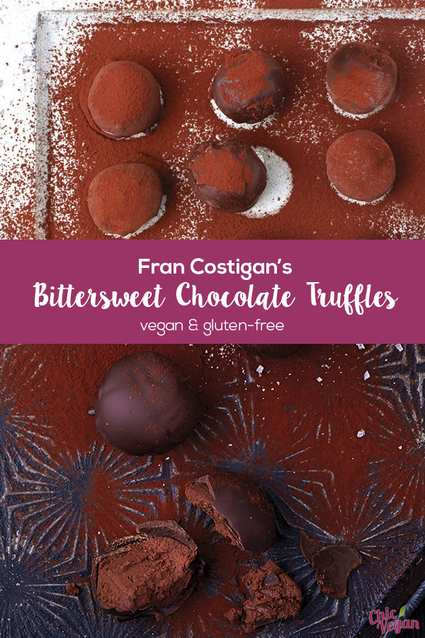 Fran Costigan's Vegan Bittersweet Chocolate Truffles are luxurious, velvety smooth, and indulgent — perfect for Valentine's Day. They're dairy-free and gluten-free. Photos by Kate Lewis