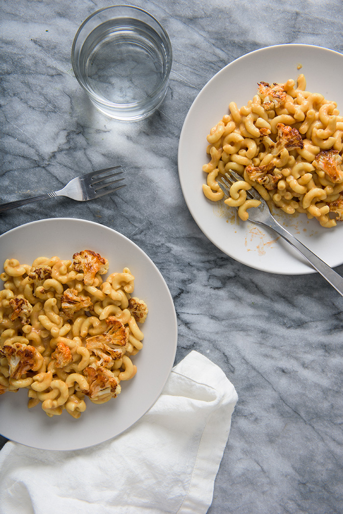 Buffalo Cauliflower Mac recipe from Vegan Mac and Cheese by Robin Robertson
