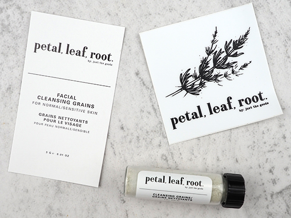 Just the Goods Petal, Leaf, Root Facial Cleansing Grains