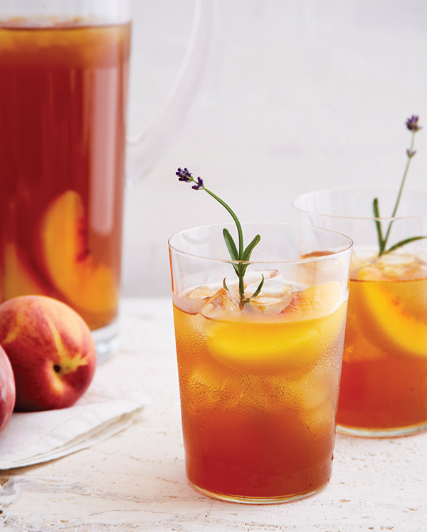 Lavender Peach Iced Tea
