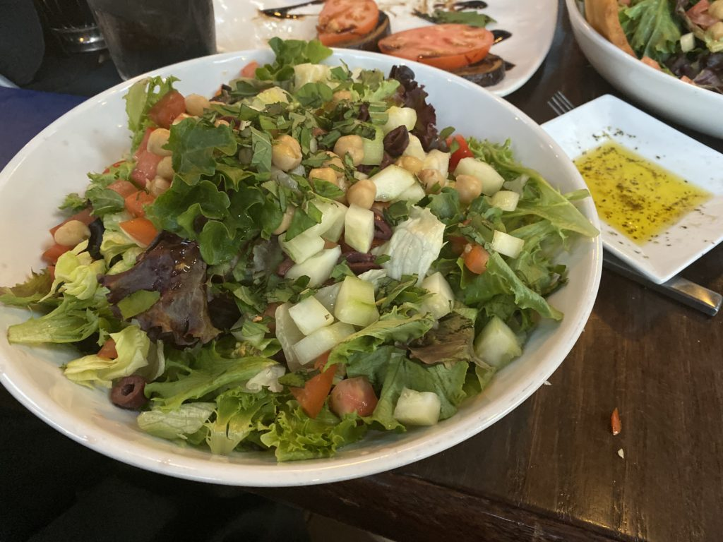 Mediterranean salad at Tuscan in Lake Geneva