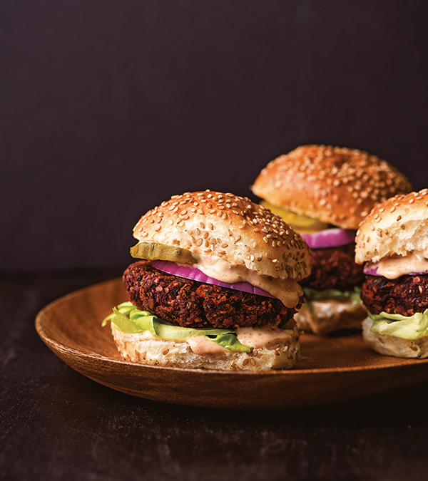 The Beet Burger from Wait, That's Vegan?! by Lisa Dawn Angerame